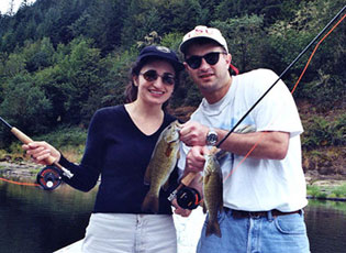 Husband and Wife Bass Fishing